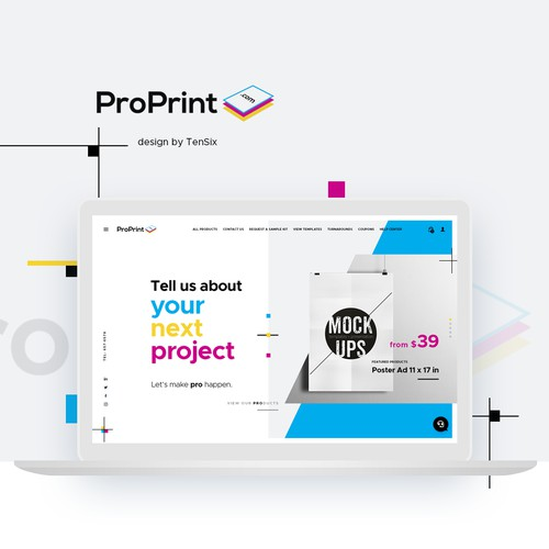 Print Shop Website Design