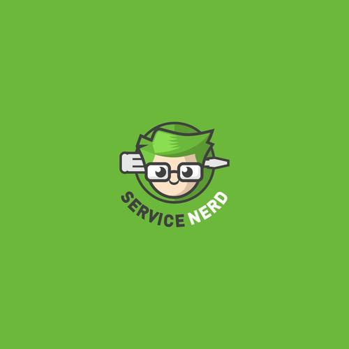 Fun Logo for Nerdy Electronics Repair Shop