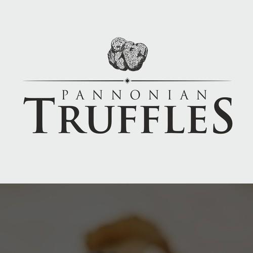 Hand drawn Truffles logo concept