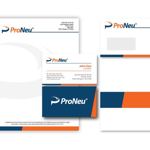 Create a creative corporate Identity for corporate consulting ProNeu