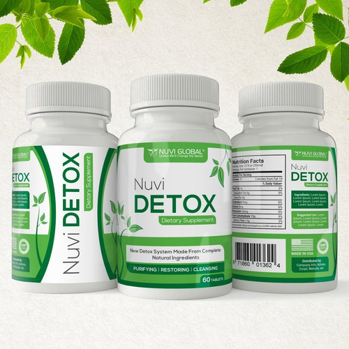 Label for Detox Dietary Supplement