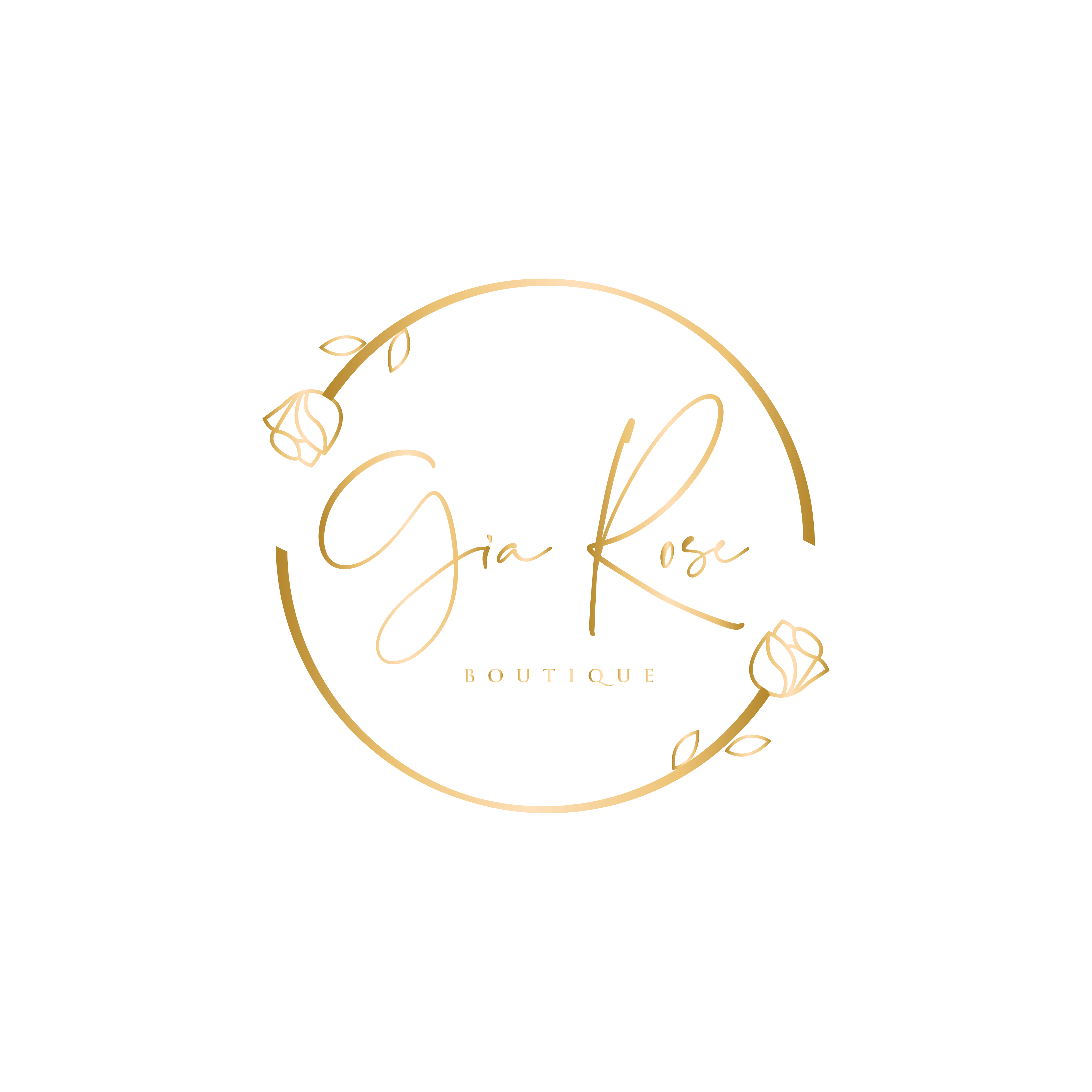 clean lines, unique and easy to read boutique logo