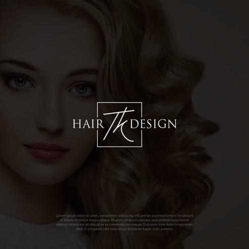 TK Hair Design logo design