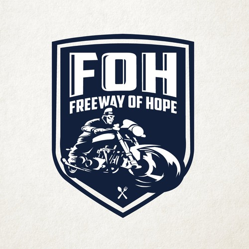 Badge style logo concept of Motorcycle logo