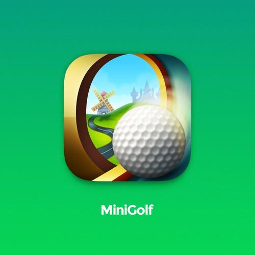 Mini Golf Game Icon