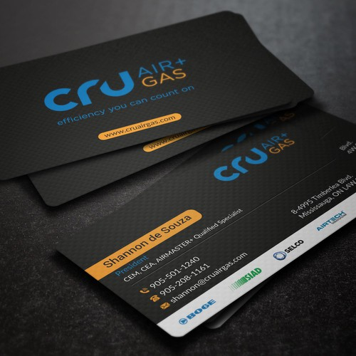 CPU Air Gas Business Card Design
