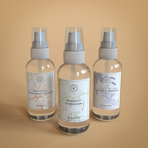 Label concept for a Pillow Sprays brand