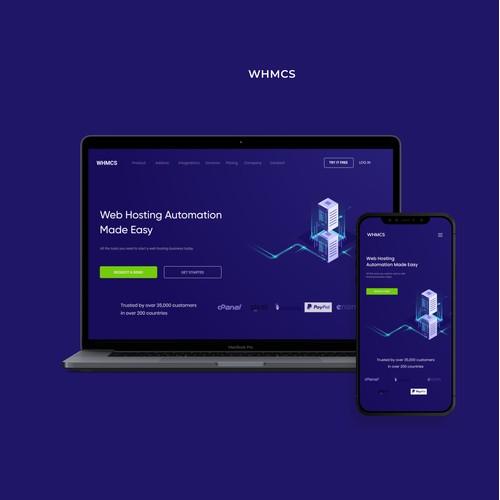 Web Hosting Automation Company UI/UX Design