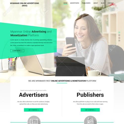 Professional Web Design for Monetizing Platform