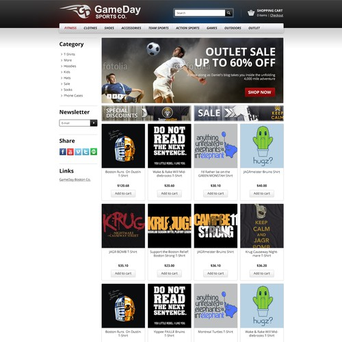 New website design wanted for GameDay Sports Co.