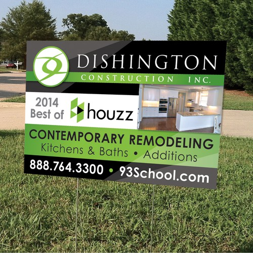Construction Company Lawn Sign
