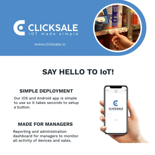 A4 flyer for IoT company