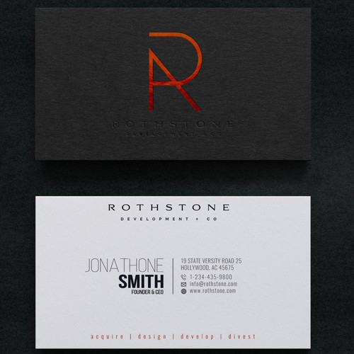 Business Card Design for Rothstone