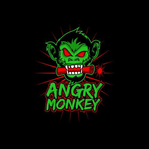 ANGRY MONKEY Logo Design