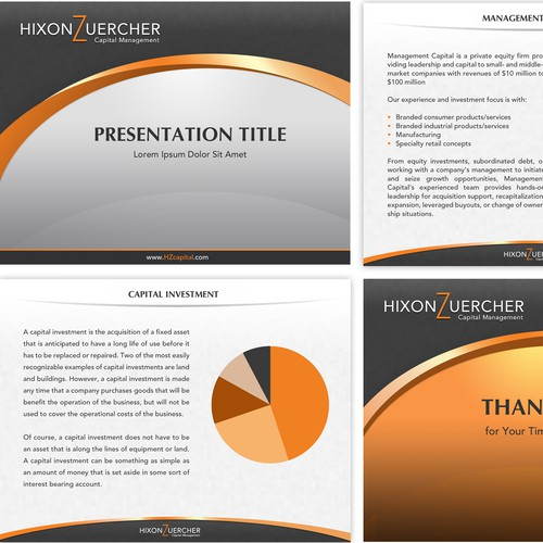 Powerpoint template for Hixon Zuercher Capital Management