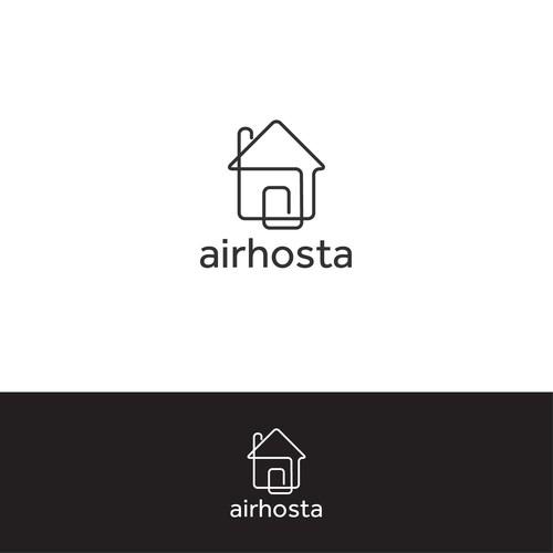 Stylized logo for Airhosta