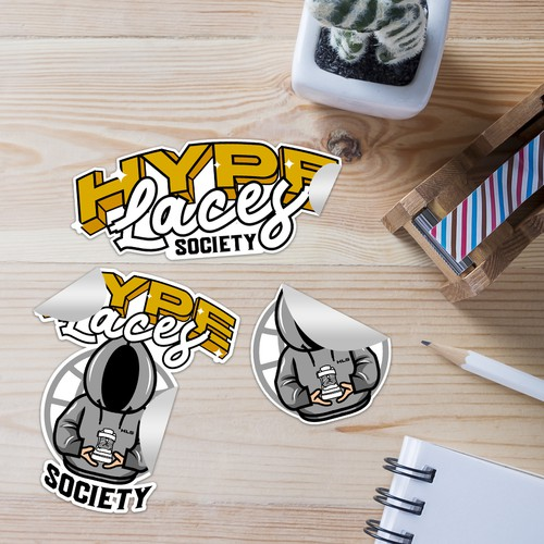 Hypelaces Society Stickers