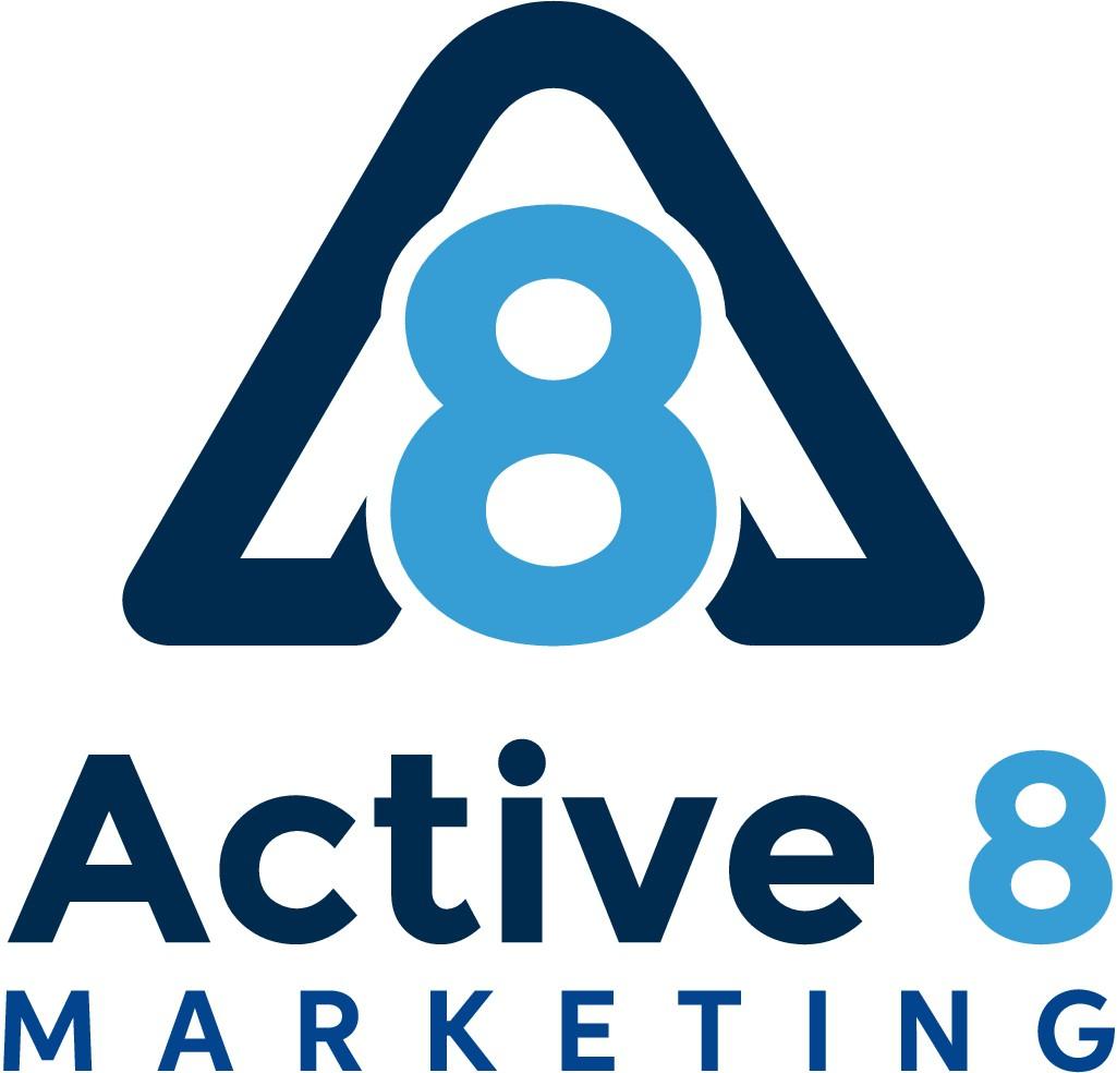 Iconic Active8 Marketing Logo Design