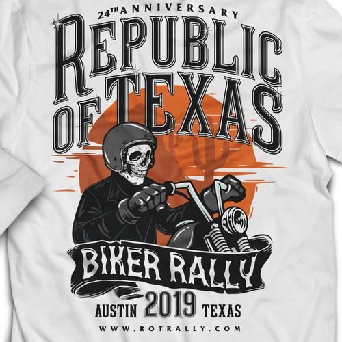 T Shirt for TEXAS RALLY BIKE 2019