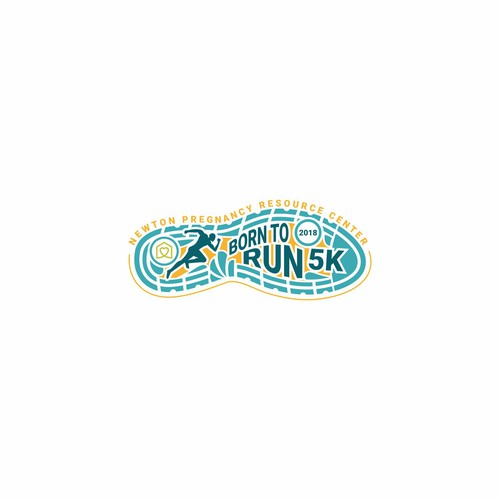 Fun and Creative Logo for NPRC Born to Run 5k