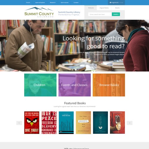 Summit County Library Website Design