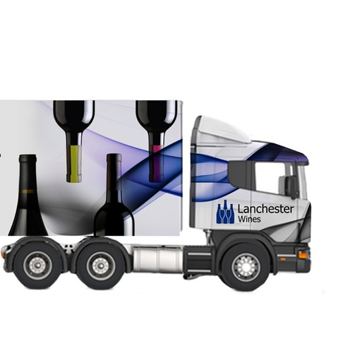 Design an eye catching truck wrap/skin for Lanchester Wines