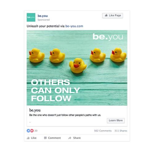 Example of facebook Ad Design
