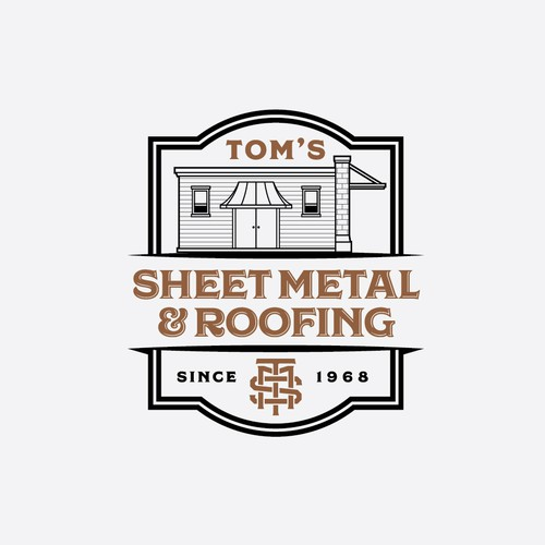 Logo set for Tom's Sheet Metal & Roofing