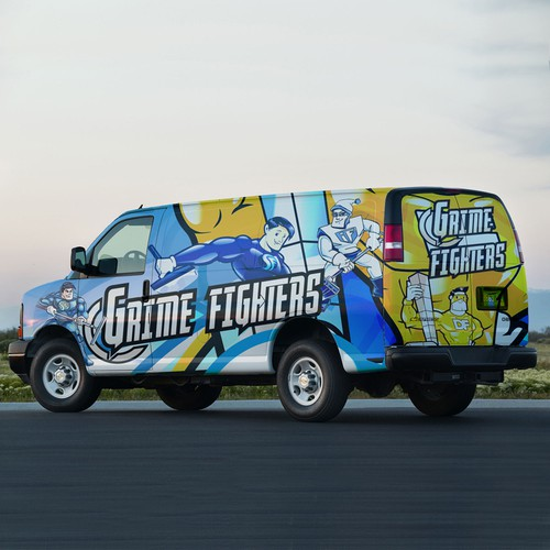 Cleaning Company Van Wrap
