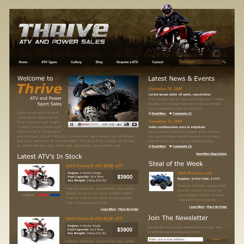Thrive ATV Website