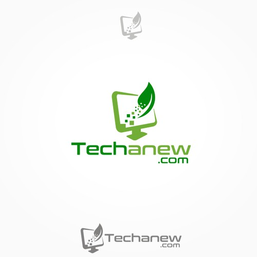 Techanew.com logo design
