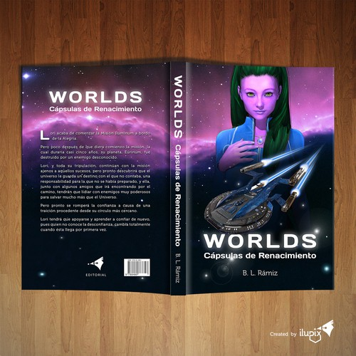 Girl and spacecraft creation in 3D for sci-fi book