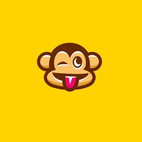 A Cute Monkey logo for a Mobile App