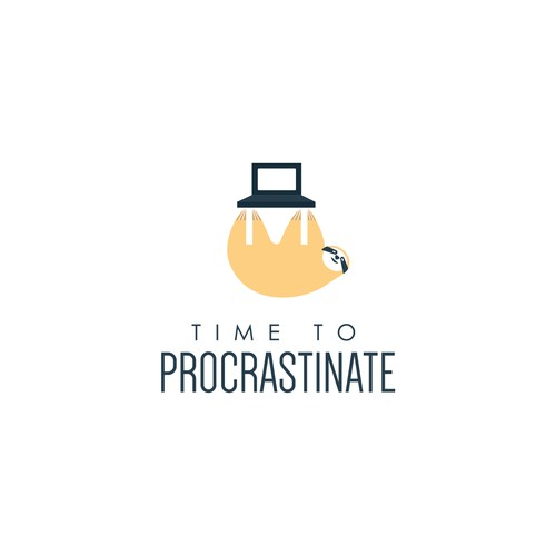 Minimalist Logo for a Company that provides Procrastination Materials