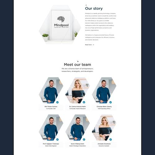 MindPool Inner Page Design