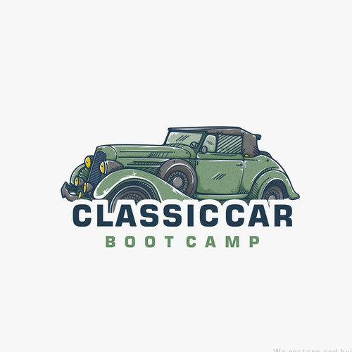 Classic logo for Build car