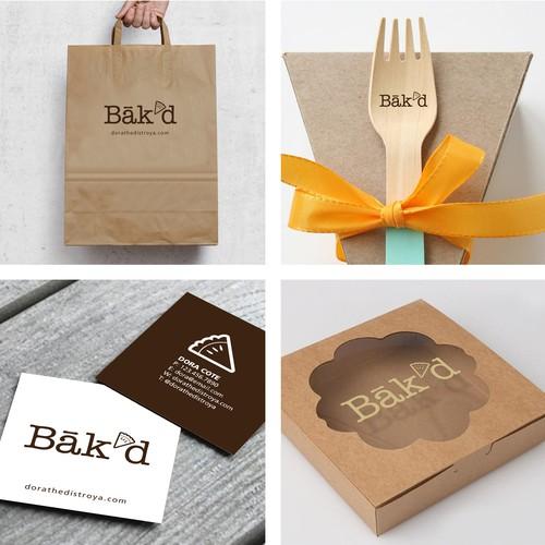 bak'd pie bakery logo