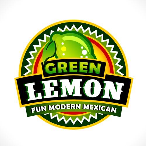Green Lemon Logo Design