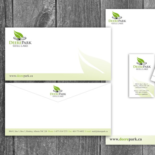 Business card and letterhead for residential subdivision