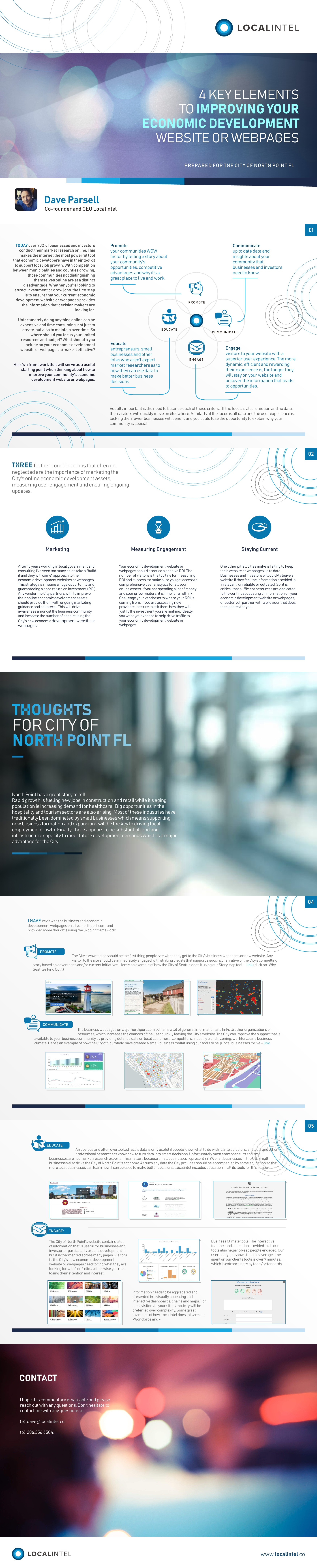Make a difference - design white paper template for tech startup helping cities