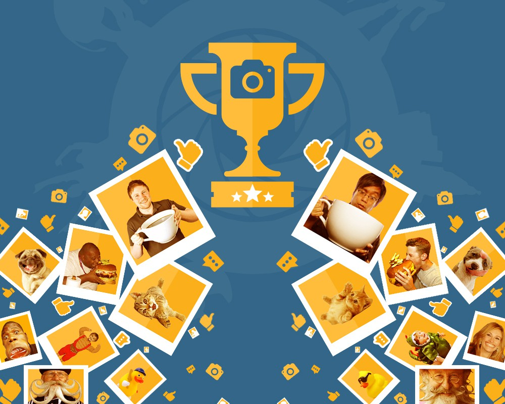 Promotional background for fun photo app