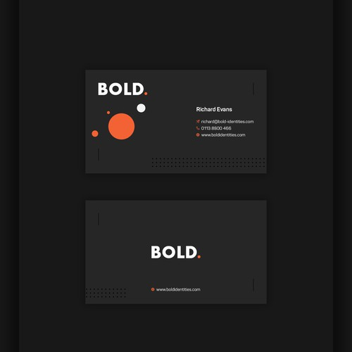 Bold Business card design
