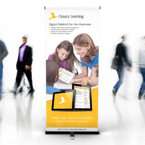 Roll-up banner for a digital product in eductaion