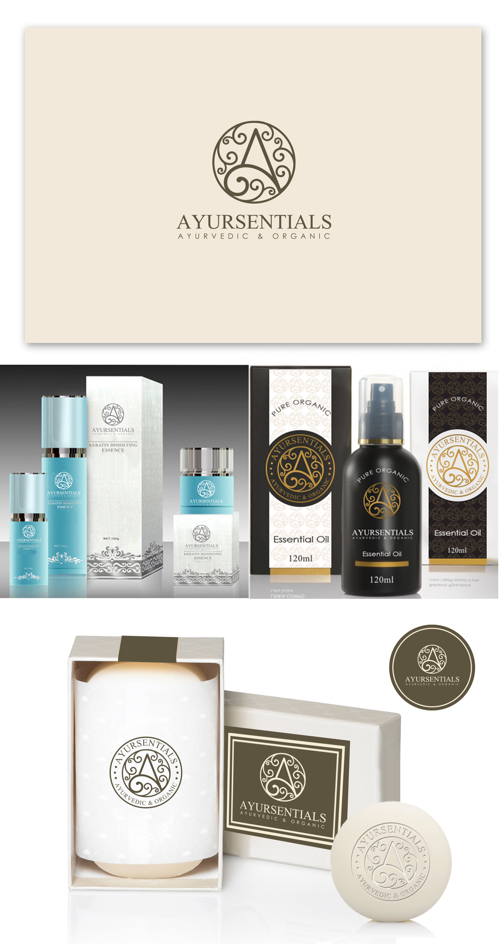 Create a strong, imaginative Logo for an Ayurvedic & Organic line of products.