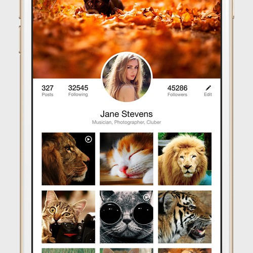 Layout for Video/Picture Social App