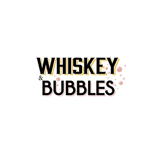 Logo for Whiskey & Bubbles event