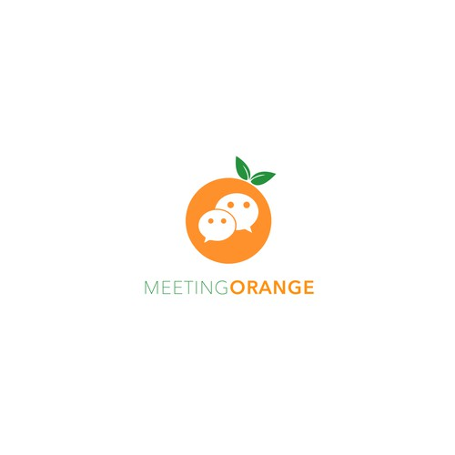 Meeting Orange App Logo Design