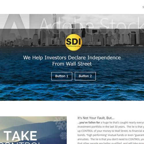 Website wallpaper banner for Self Directed Investor Society
