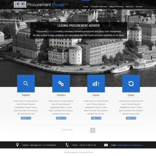 Website design for www.procurementpower.se