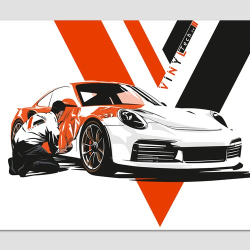 Illustration for Car Wrapping company